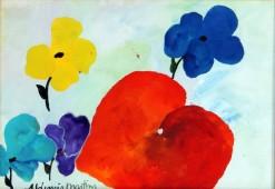 AM-075 - Aldemir Martins - Natureza Morta com Flores e Frutas - ASC - 29 X 42 cm