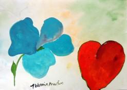 AM-082 - Aldemir Martins - Natureza Morta Manga e Flor Azul - ASC - 29,5 X 42 cm