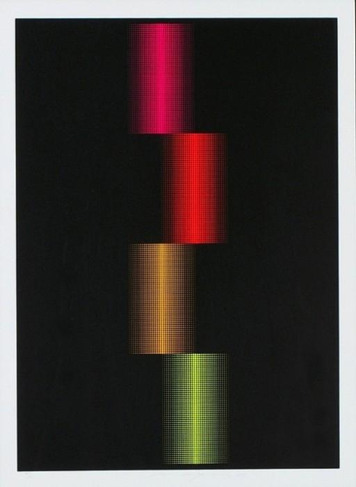 AMav-001 - Almir Mavignier - Composicão Série Puncton Fluorescente - 80 X 60 cm - 1/200 - 1973