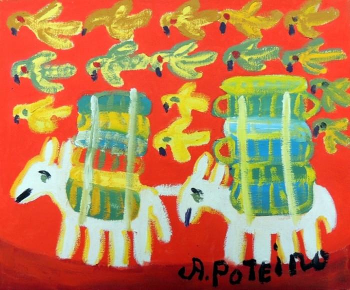 AP-015 - Antônio Poteiro - Burricos de Carga II - OST - 25 X 30 cm
