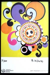BM-001 - Beatriz Milhazes - Maracanã - Gravura - 21/800 - 97 X 66 cm