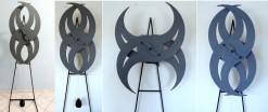 DMF-001 - Composição Dorival Maggioni Finotto - SPIN - Escultura Cinética - 190 X 107 cm - Acompanha Manual de Operação e Instalação