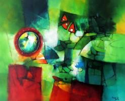 FB-015 - Franco Belli - Abstrato - OST - 83 X 104 cm