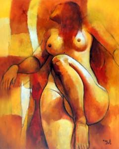 FB-018 - Franco Belli - Nú Feminino - OST - 103 X 82 cm
