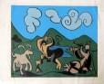 PP-001 - Pablo Picasso - Grabados Al Linóleo - Gravura - Exemplar 471 - 32 X 39 cm - 1963