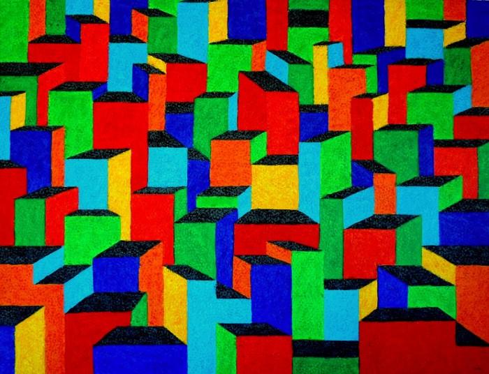CT-003 - Cláudio Tozzi - Cidade - AST - 110 X 145 cm - 2000