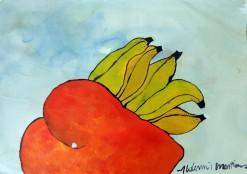 AM-087 - Aldemir Martins - Natureza Morta Manga e Bananas - ASC - 29,5 X 42 cm