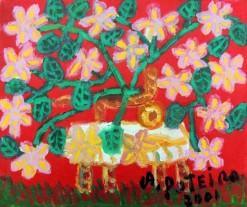 AP-018 - Antônio Poteiro - Flores do Cerrado III - OST - 25 X 30 cm