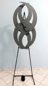 DM-001 - Dorival Maggioni Finotto - SPIN - Escultura Cinética - 190 X 107 cm - Acompanha o Manual de Operação e Instalação